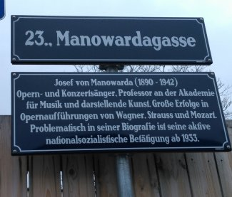 Plaque de rue - Manowardagasse (Wien 23) - Photo JYR