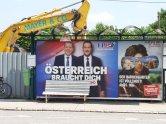 Élections européennes - Affichage commercial - Perchtoldsdorf 25.05.19 - Photo JYR