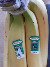 Les bananes sont bio, c'est marqué dessus - Photo JYR - 02.20
