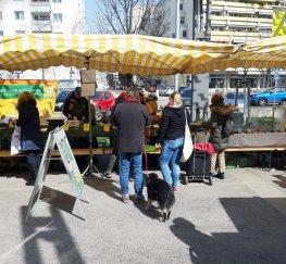 Le marché à Wien Liesing en période de confinement